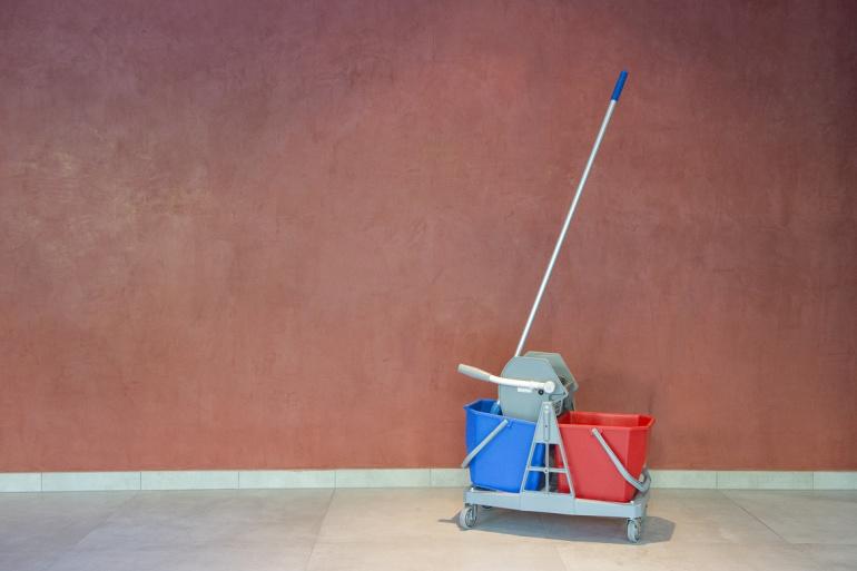 Chariot de nettoyage double