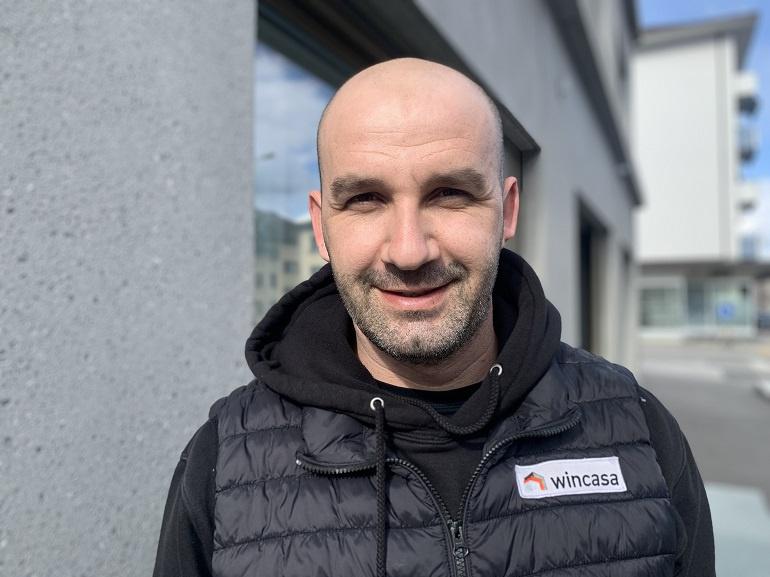 Mirzet Ukic, concierge d'immeubles à Sion