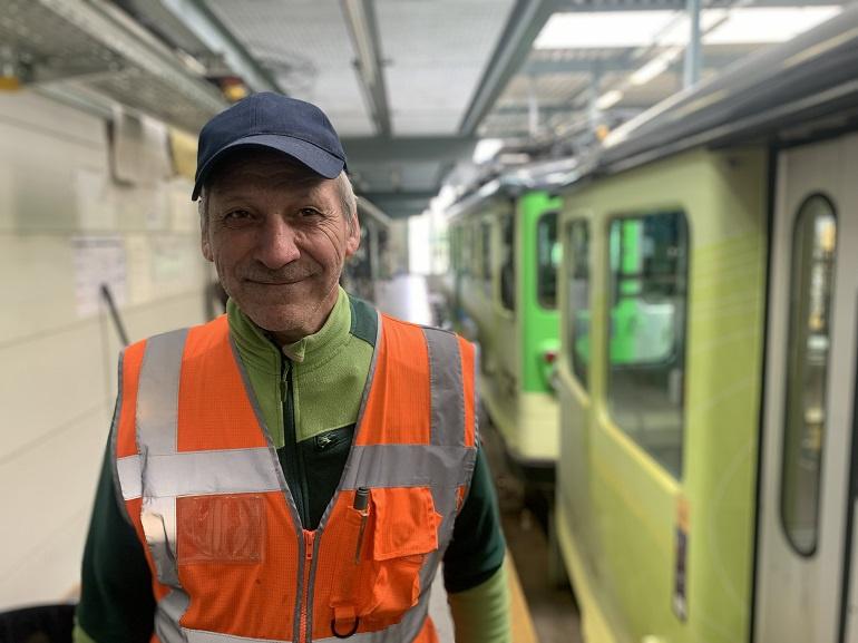 Jean-Pierre Bonzon, concierge aux Transports Publics du Chablais à Aigle